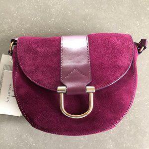 Halston raspberry suede shoulder bag